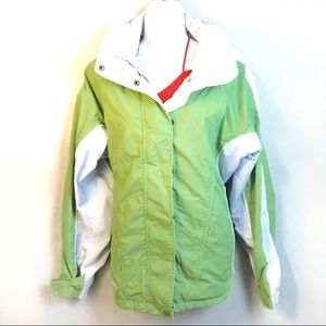Columbia Core Lime Green and Gray Jacket Medium